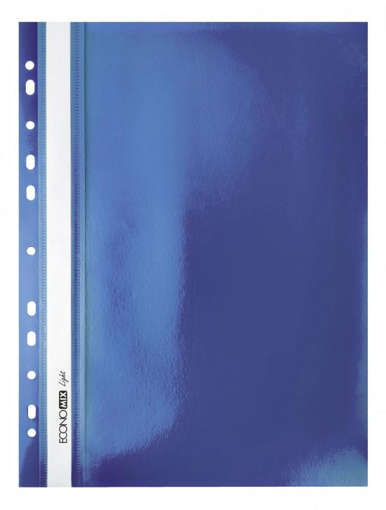 """Папка-скоросшиватель А4 Economix Light с перфорацией, фактура """"Апельсин"""", синяя E38504-02"""