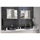 Шкаф навесной для ванной комнаты с зеркалом LUMO PRAWE в ванную комнату, фото 3