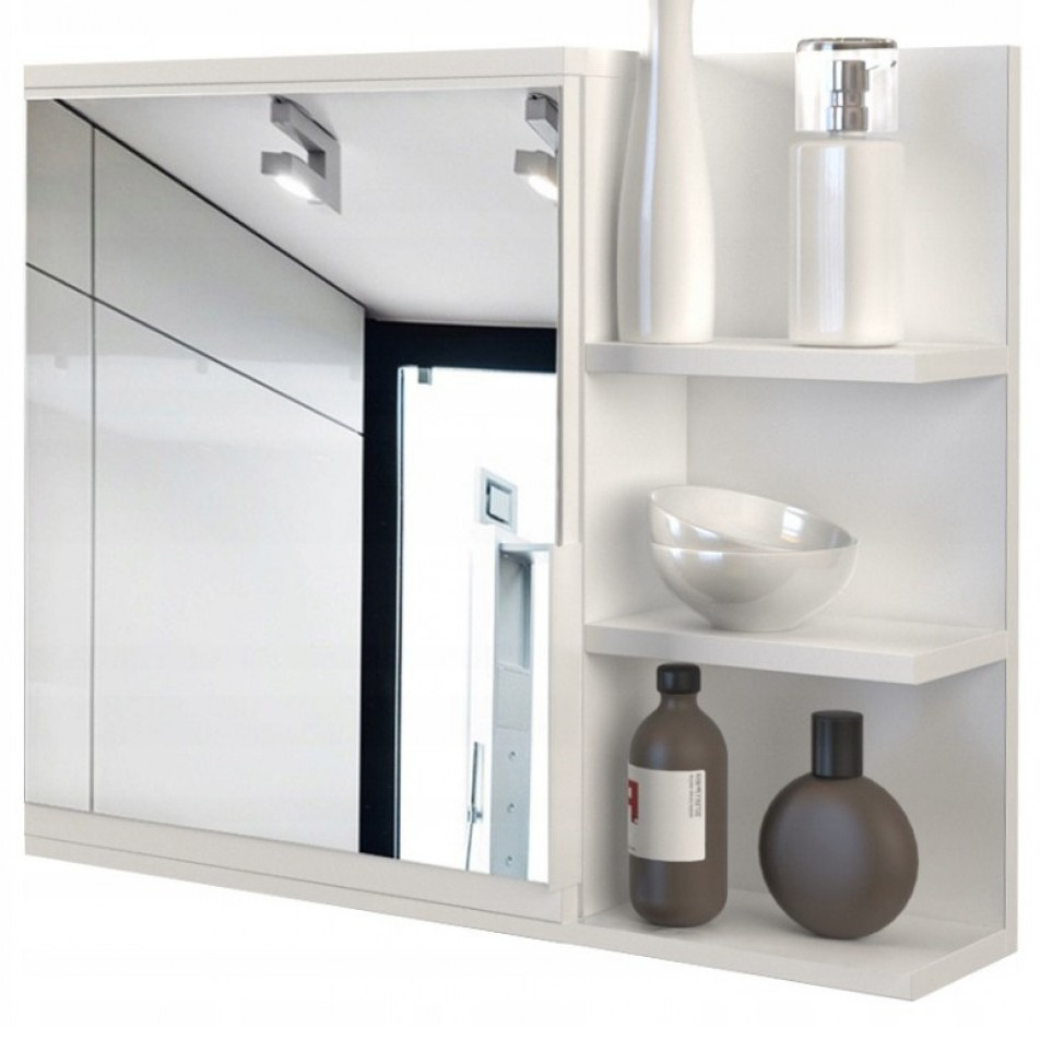 Шкаф навесной для ванной комнаты с зеркалом LUMO PRAWE в ванную комнату