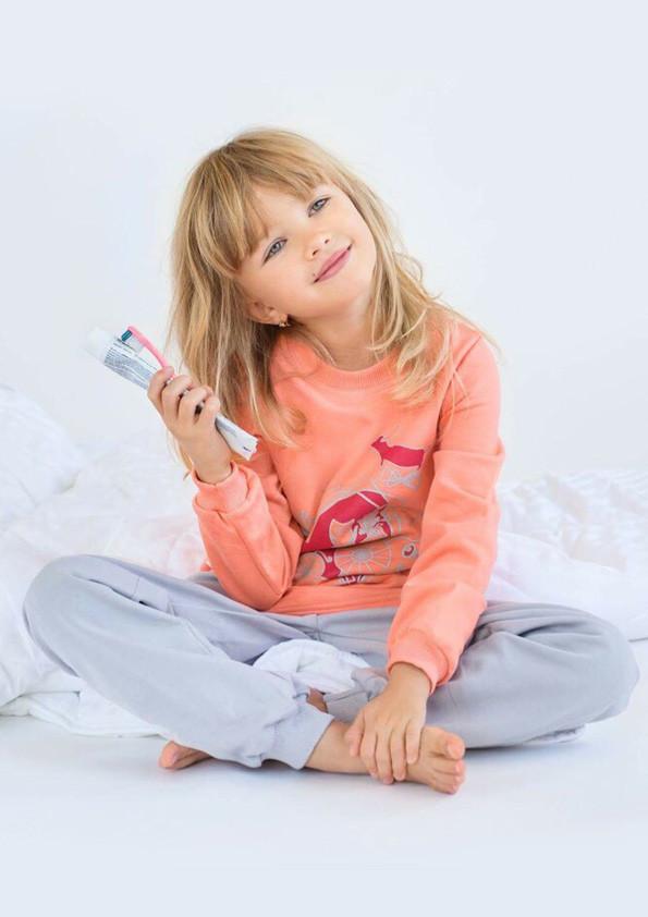 Пижама детская утепленная для девочки (футер) с начесом
