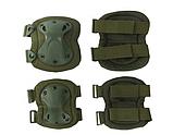 Наколенники и налокотники - комплект защиты тактический. Олива., фото 2