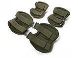 Наколенники и налокотники - комплект защиты тактический. Олива., фото 3