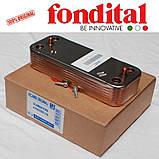 Теплообменник вторичный 14 пластин. Fondital/Nova Florida, фото 2