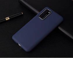 Чехол Soft Touch для Huawei P40 силикон бампер темно-синий