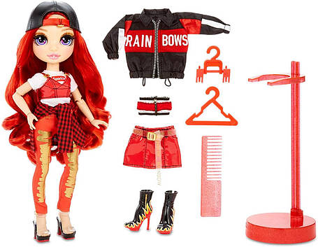 Рейнбоу Хай Руби Андерсон Красная Rainbow Surprise Rainbow High Ruby Anderson Red, фото 2