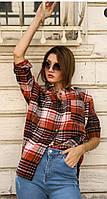 Рубашка в клетку женская Красный/Черный, фото 1