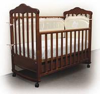 Кроватка Верес Соня ЛД-11 с резьбой, фото 1