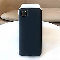 Чехол Soft Touch для Huawei Y5p силикон бампер черный
