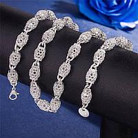 Цепочка из ажурных бусин, медсплав, женская цепочка, ожерелье для женщин FS1752-75