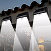 Комплект 8шт. Двойной фонарь с датчиком движения Solar Motion  40 LED водонепроницаемый на солнечной батарее, фото 4