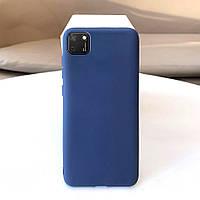 Чехол Soft Touch для Huawei Y5p силикон бампер темно-синий