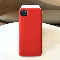 Чехол Soft Touch для Huawei Y5p силикон бампер красный