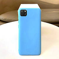 Чехол Soft Touch для Huawei Y5p силикон бампер мятно-голубой