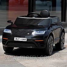 Детский электромобиль Land Rover (черный цвет) с пультом дистанционного управления