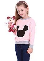 Реглан для девочек - розовый, серый