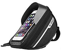 Захищена сумка тримач для телефону на велосипед чорна, фото 1