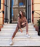 Женский костюм батник с лосинами замшевый 42-44,46,48, фото 2