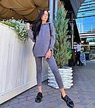 Женский костюм батник с лосинами замшевый 42-44,46,48, фото 3