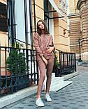 Женский костюм батник с лосинами замшевый 42-44,46,48, фото 4