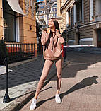 Женский костюм батник с лосинами замшевый 42-44,46,48, фото 5