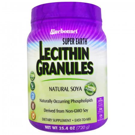 Гранулы лицетина Bluebonnet Nutrition Super Earth Lecithin Granules (720 гр)