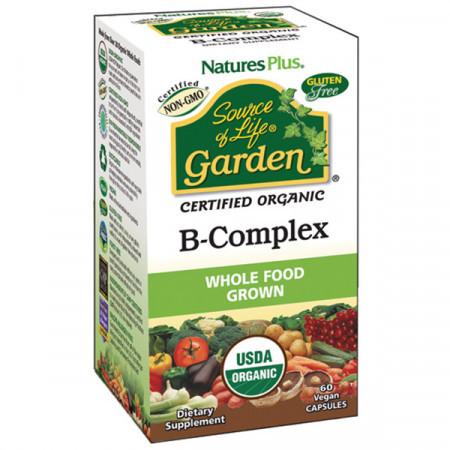 Органический В Комплекс Natures Plus Source of Life Garden B-Complex (60 желевых капсул)