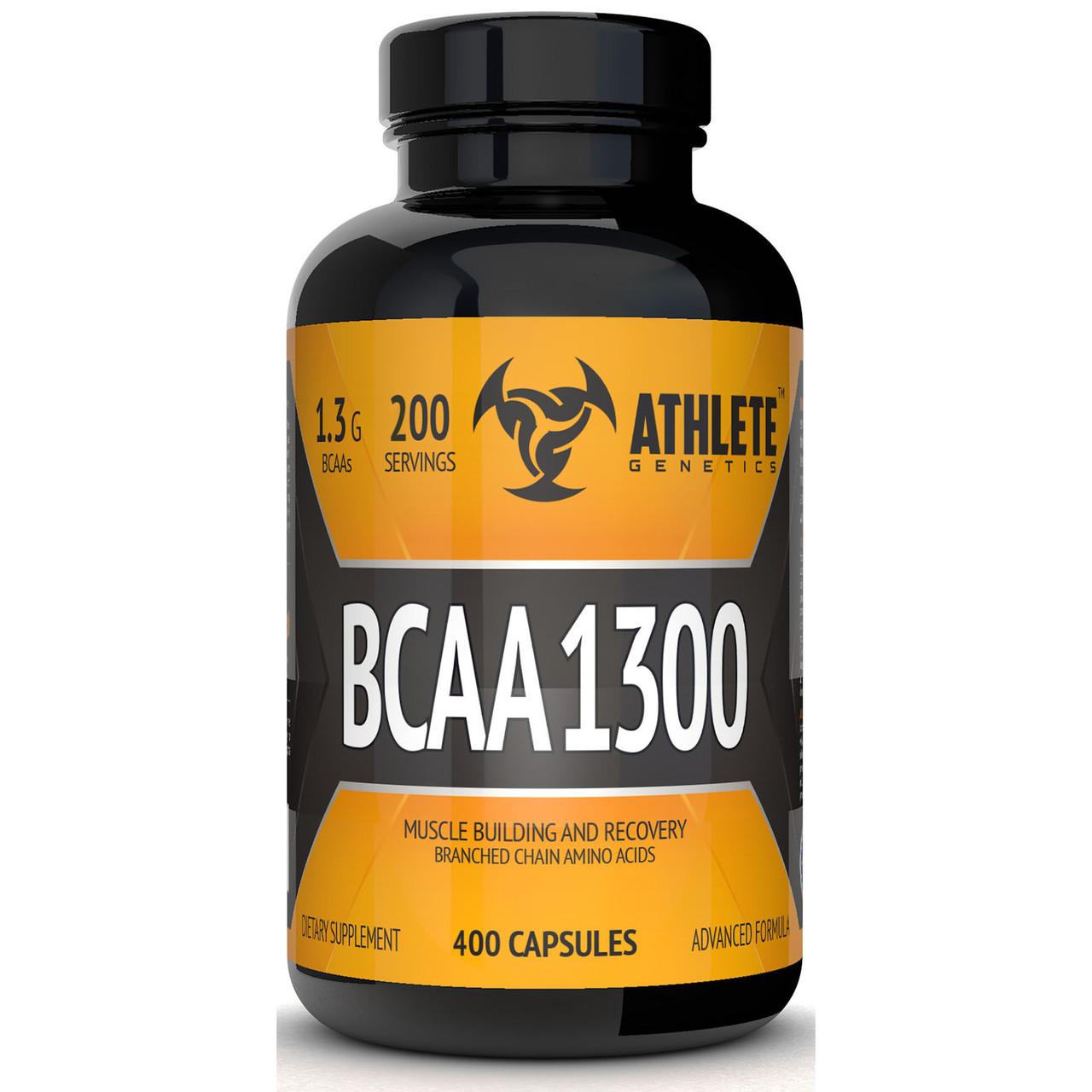 BCAA аминокислоты Athlete Genetics BCAA 1300 (400 капсул)