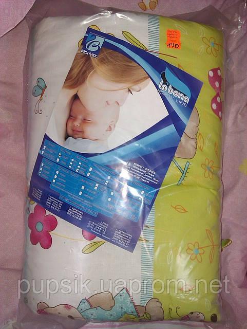 Подушка с одеялом в детскую кроватку (одеяло 90*120, подушка 40*60, толщина 200'')