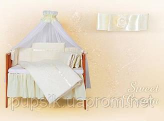 Постельный комплект в кроватку Tuttolina Sweet Cream (8 предметов)