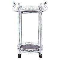Сервировочный столик на колесах /Арт-деко/ белый