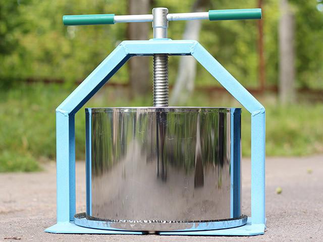 Прес соковижималка 15 л, нержавіюча сталь