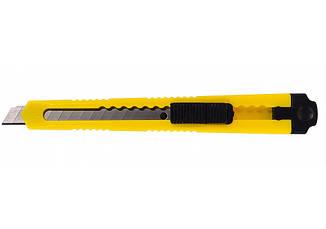 Нож канцелярский Economix 9 мм пласт. корпус желтый