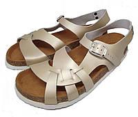 Анатомические сандалии FA-107 золотые, размер 37