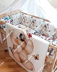 Детский постельный комплект в кроватку Мишка
