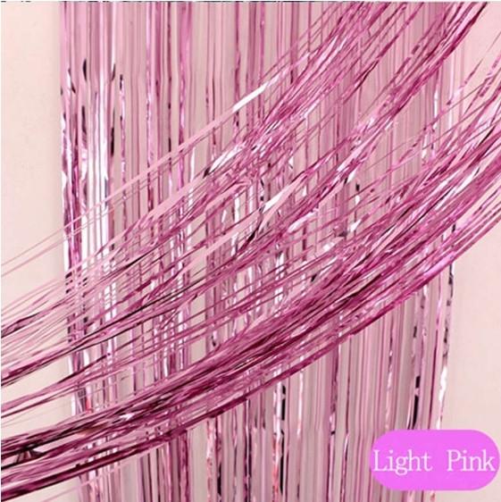 Шторка занавес из фольги для фотозон  1х3 метра розовая