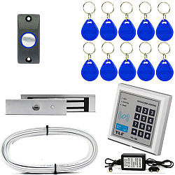 Электромагнитный замок ЕМ280-ЕК комплект с кодовой клавиатурой