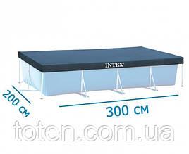 Тент для каркасного прямоугольного бассейна Intex 28038, каркасный 300 х 200 см 58106