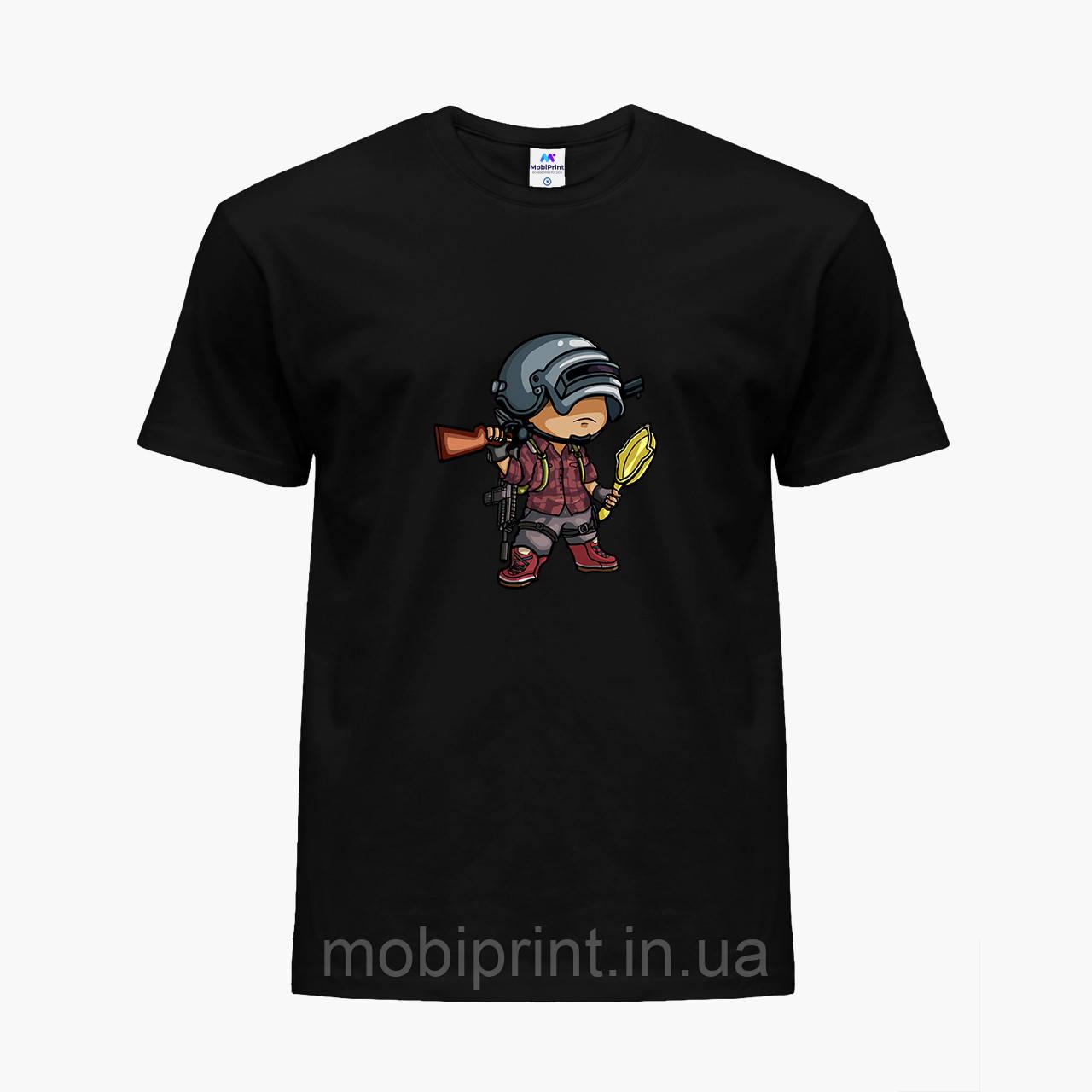 Детская футболка для мальчиков Пубг Пабг (Pubg) (25186-1710) Черный