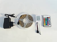 Светодиодная лента RGB LED Strip SMD 3528 с контроллером, пультом и блоком питания