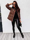 Женская двусторонняя куртка в стиле Fendi до 52 размера, фото 5