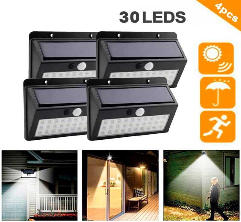Набор 4шт. Уличный сенсорный светильник на солнечной батарее Solar SL-A30 30 LED