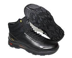 Зимние мужские ботинки черного цвета на шнуровке 4127.0см4529.0см