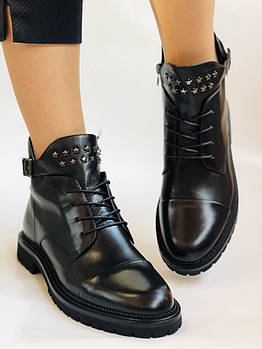 Высокое качество. Женские осенние ботинки. На низком. Натуральная кожа.Anemone Р. 37.38.39.40.Vellena