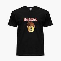 Детская футболка для мальчиков Роблокс (Roblox) (25186-1713) Черный