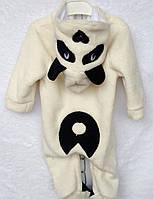 Махровый комбинезон человечек для новорожденного Панда