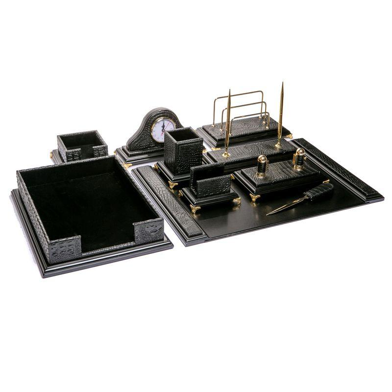 Настольный набор для руководителя BST 400009 66*46 см чёрный  Snake