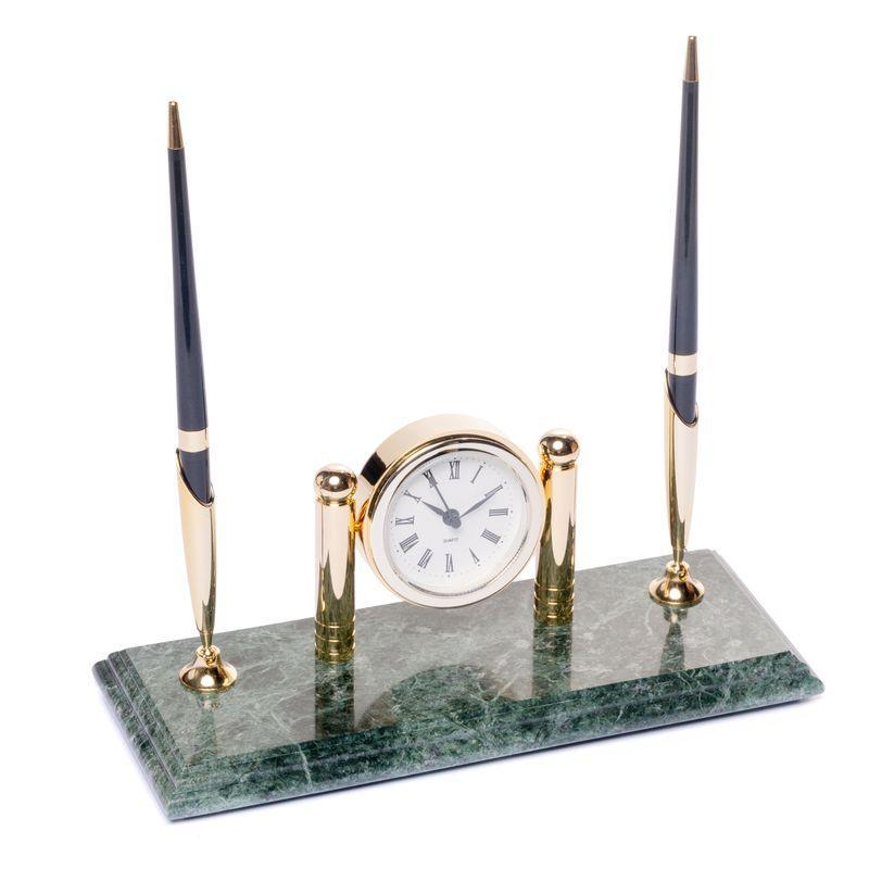 Подставка для 2 ручек BST 540037 с 24х10 часами мраморная