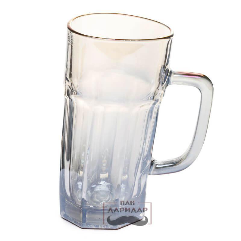 Кружка пивная необычная пьяная граненая BST 520011 0,5 л. Индивидуальность