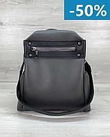 Женская сумка рюкзак из экокожи серый, женские сумки эко кожа, рюкзаки городские и спортивные
