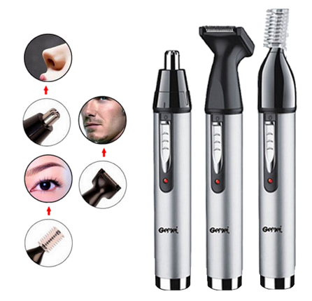 Триммер Gemei GM 3107 3в1 - Электробритва для носа, ушей, висков и шеи, фото 2